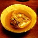 焼き鯛のスープ