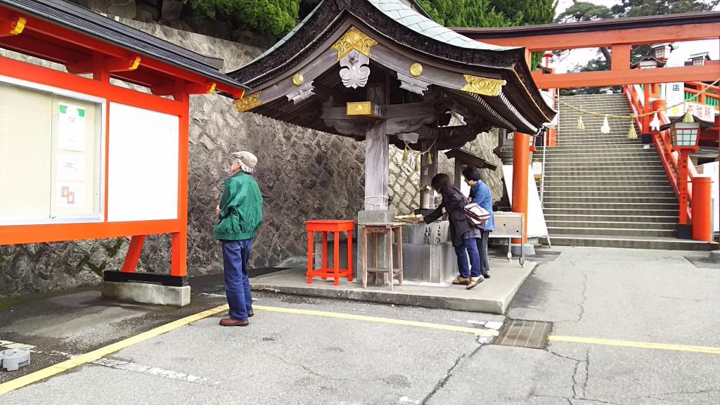 太鼓谷稲荷神社にて